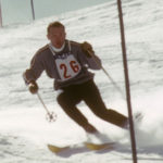 Tom Corcoran, member of 1958 and 1960 U.S. Olympic Ski team sking the Men's Slalom at the 1960 Olympics