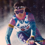 Edith Thys Morgan, two-time Olympian, ski racing at Vail